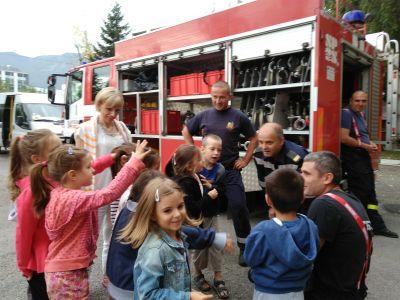 Посещение на пожарната служба - ДГ №19 Света София, Лозенец