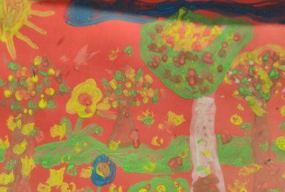 """Децата от група """"Пинокио"""" нарисуваха """"Дърветата през есента"""". - ДГ №19 Света София, Лозенец"""